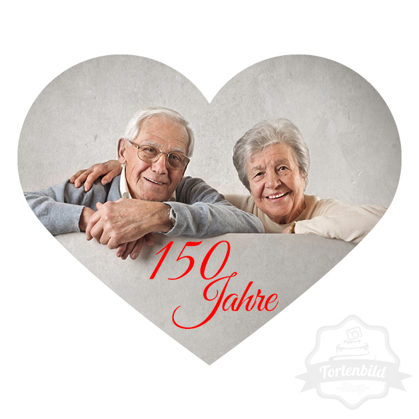 Tortenbild Herz Oma Opa