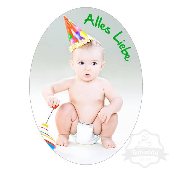Tortenbild Oval Baby