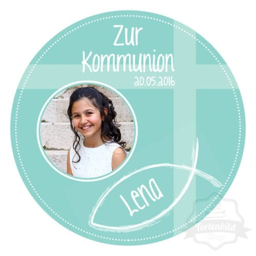 Tortenbild für Kommunion und Kofirmation