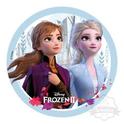 Tortenbild Frozen 2, Anna und Elsa - Motiv 1