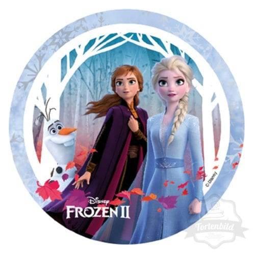 Tortenbild Frozen 2 Anna und Elsa