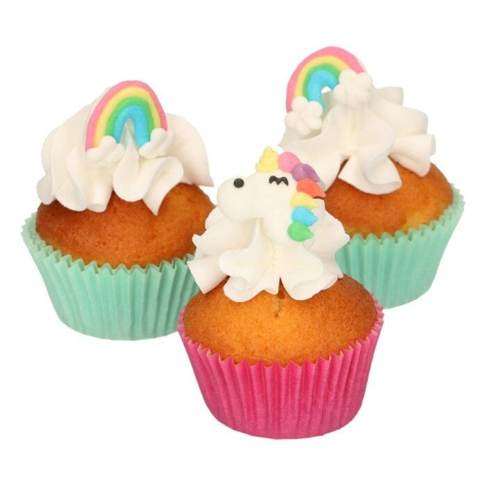 Zuckerdeko Einhorn & Regenbogen