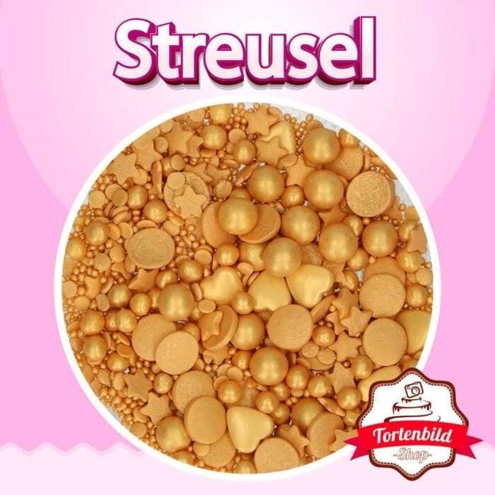 Zuckerstreusel Gold Deluxe