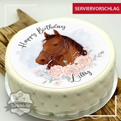 Tortenbild Pferd